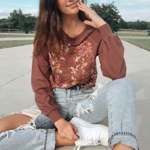 New Floral sweatshirt